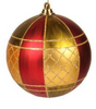 Copper Red Plaid Smooth Ball Ornament