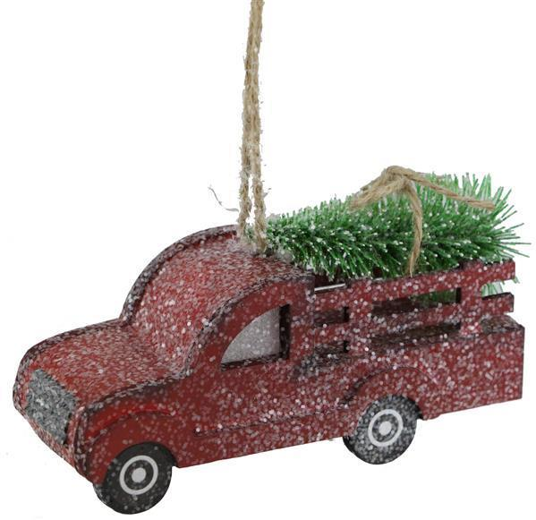 Truck Ornament with Christmas Tree