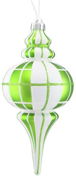 Plaid Finial Ornament