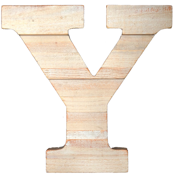 Pine Wood Letter Y