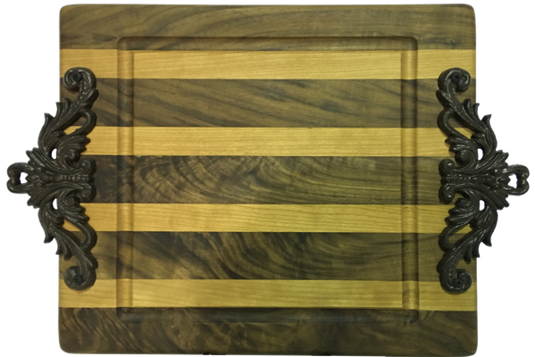 Native Cherry and Walnut Cutting Board 20in - Paul Michael Company