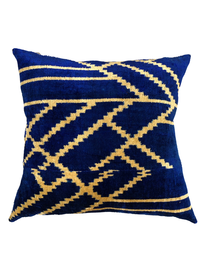 24X24 Square Handmade Silk Velvet Throw Pillow