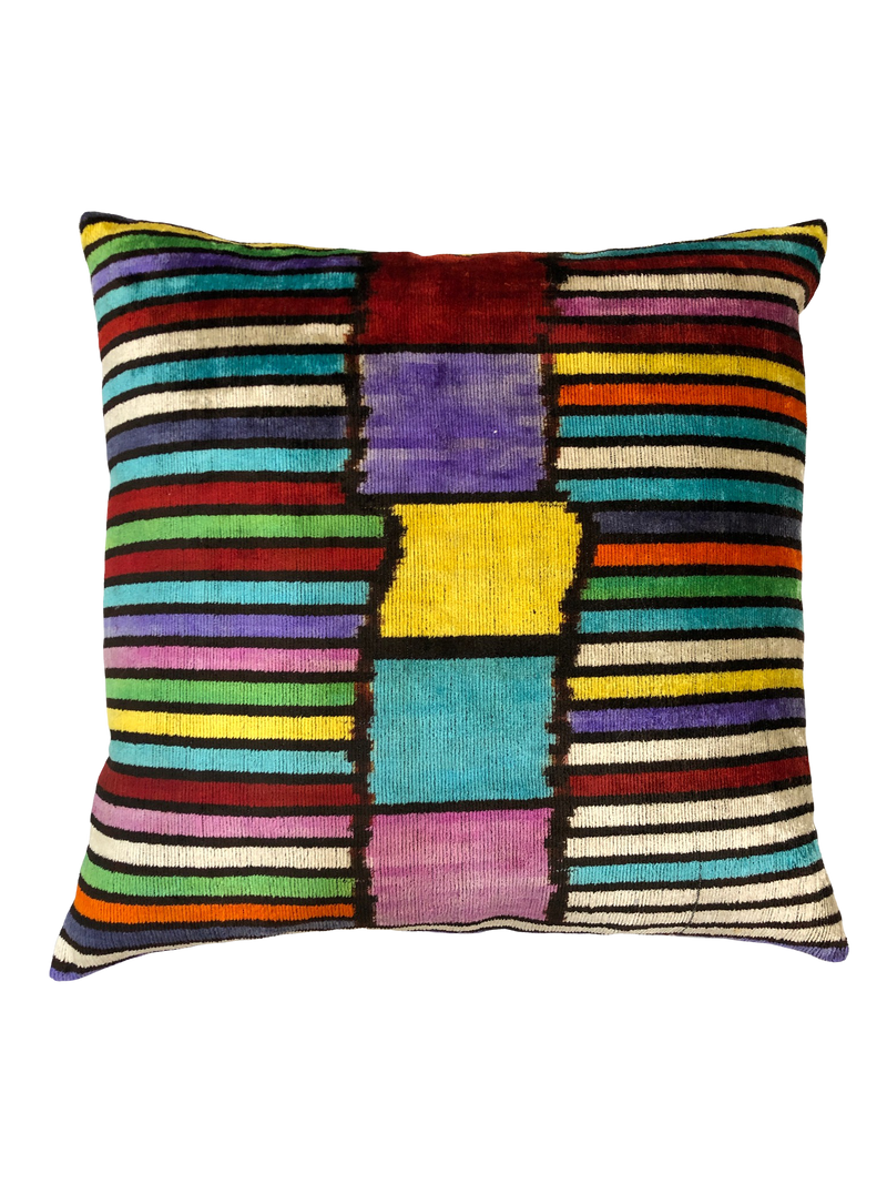 20X20 Square Handmade Silk Velvet Throw Pillow