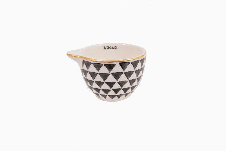 Black & White Pattern Measuring Cups