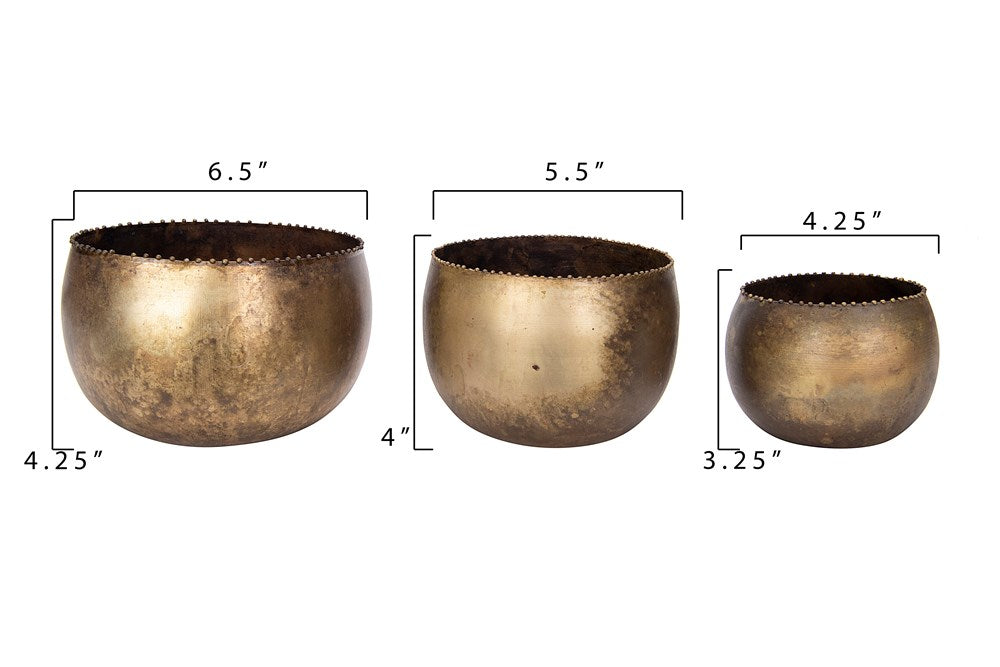 Brass Drum Planters