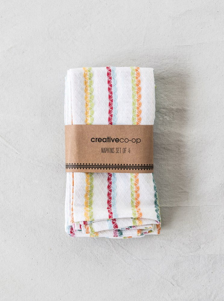 Set of Striped Cotton Napkins