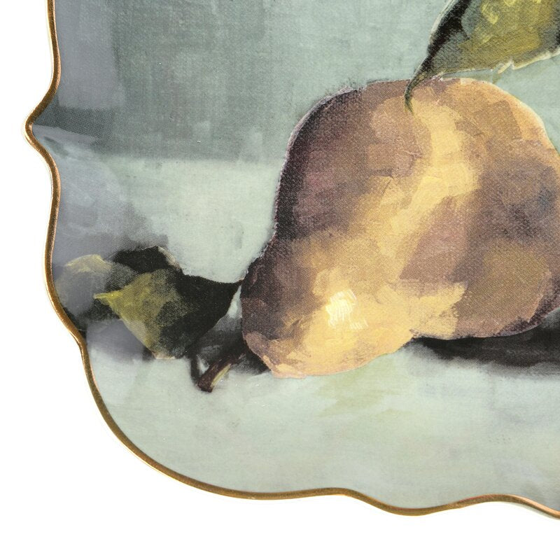 Stoneware Platter with Pear