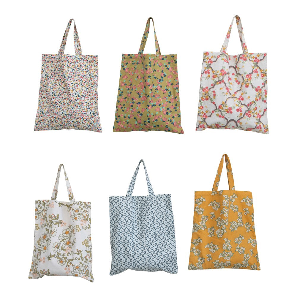 Cotton Floral Printed Tote