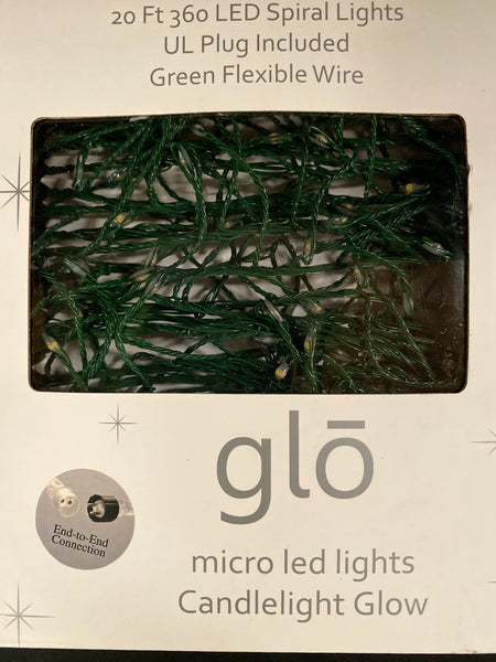 Glo Micro Led Lights Green Strand