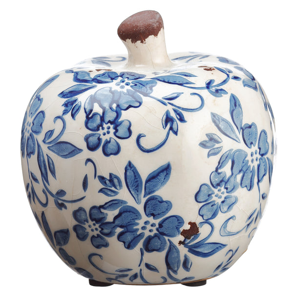 Terra Cotta Apple White Blue