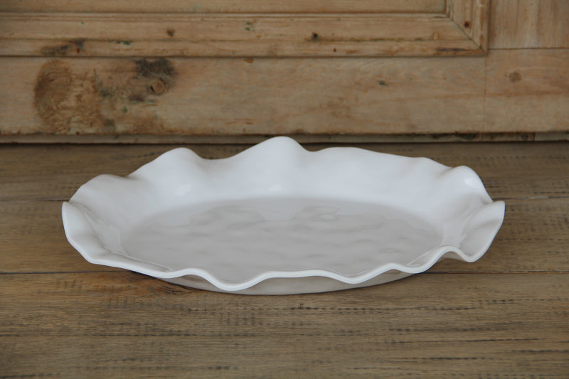 Large Oval-Shaped Serving Platter