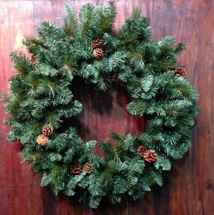 "36"" Mixed Pine Wreath - Paul Michael Company - 1"