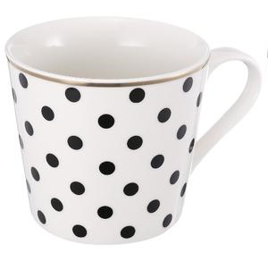 Striped Bone China Coffee Mug
