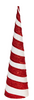 Red and White Striped Cone Tree