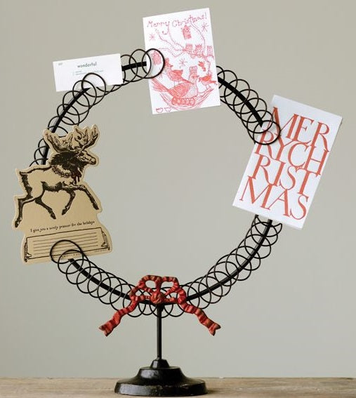 Wreath Shaped Christmas Card Holder