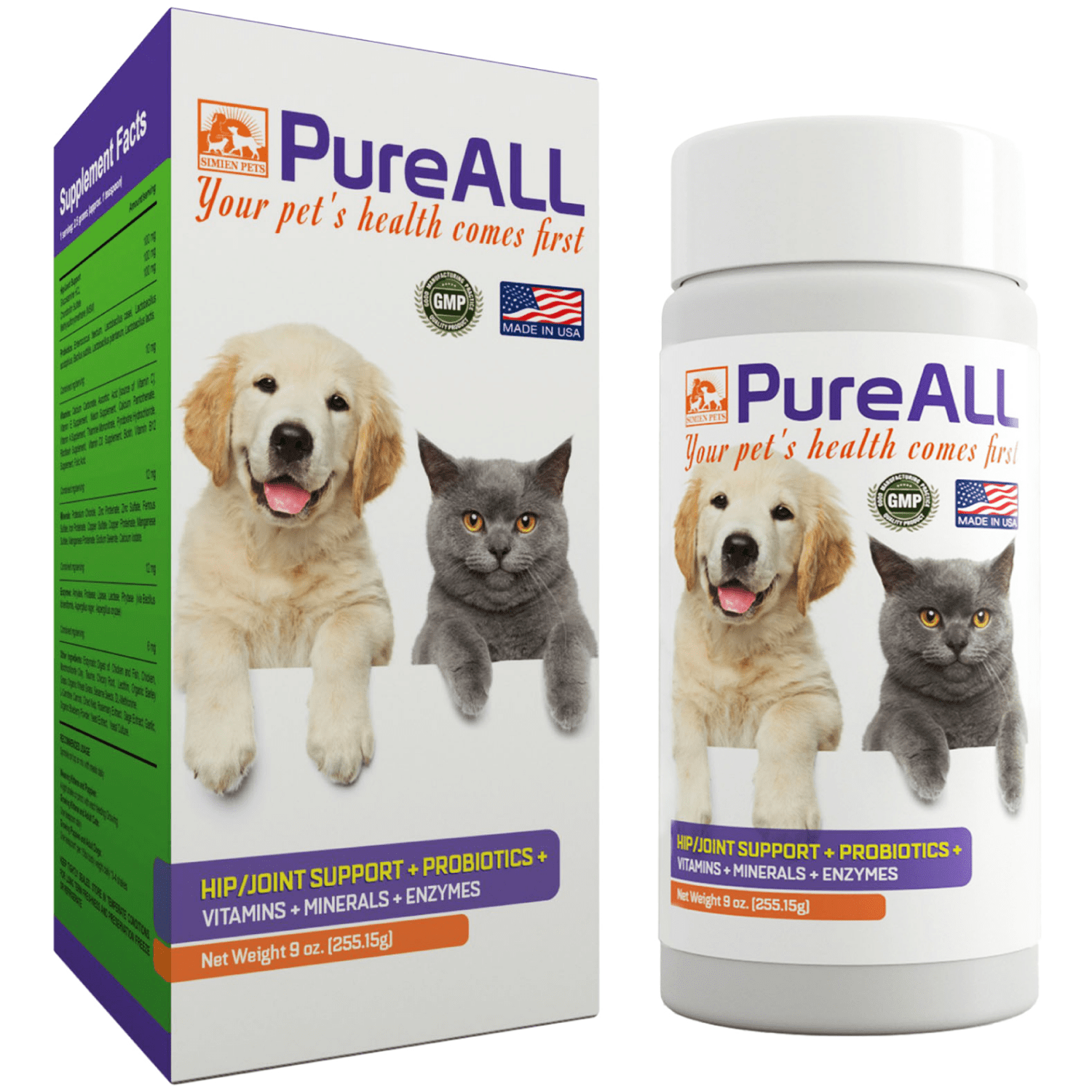 Simien Pets PureAll All-In-One Dog and Cat Supplement