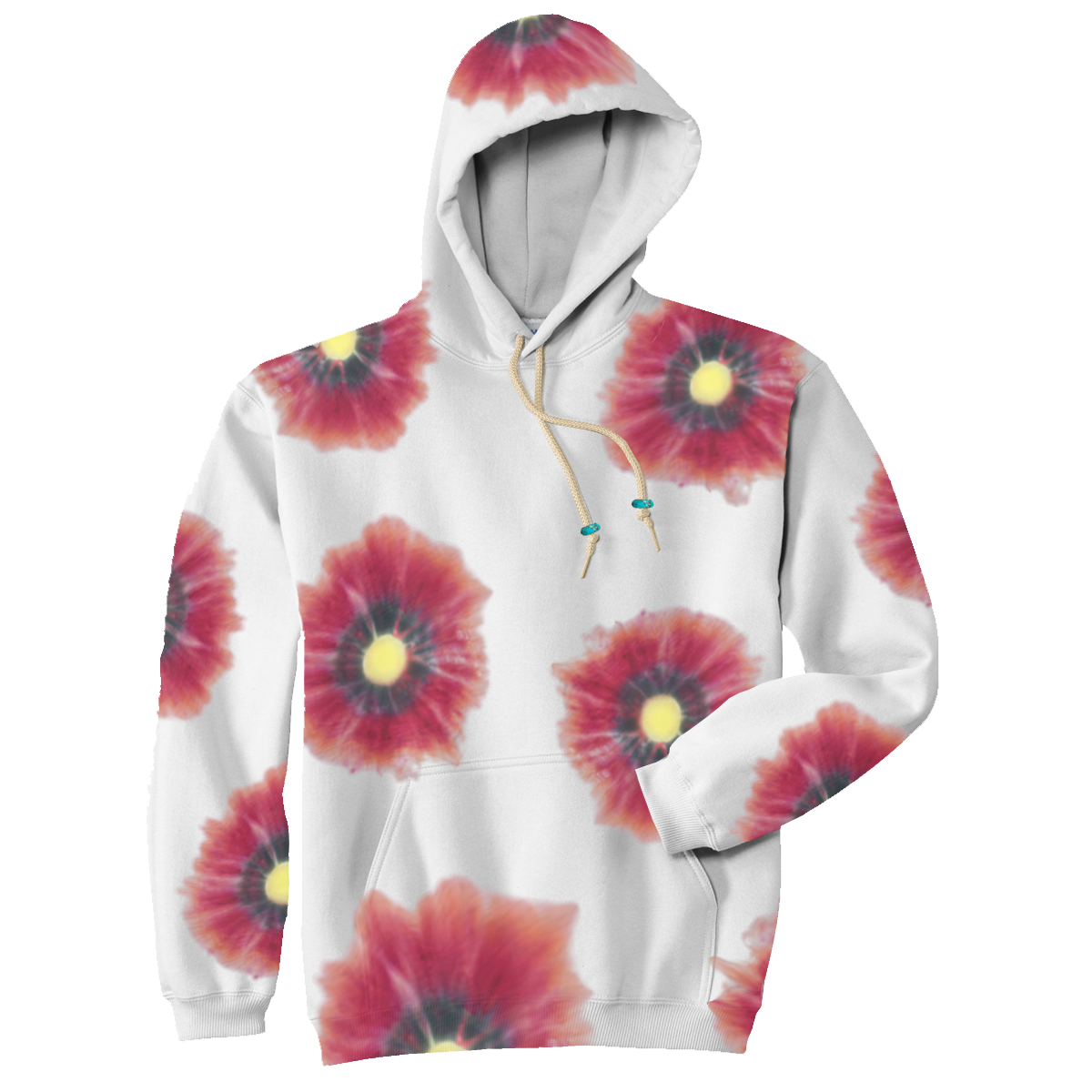 Althea Poppy Hand Dyed Hoodie