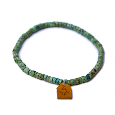African Green Turquoise Bracelet