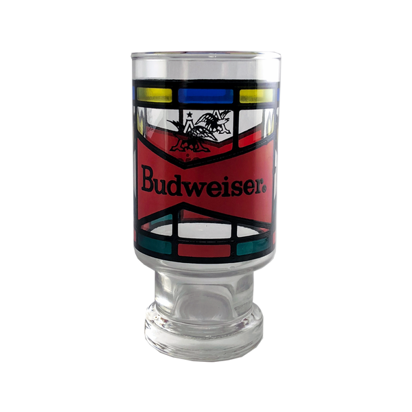 70's Budweiser Stained Glass Beer Chalice