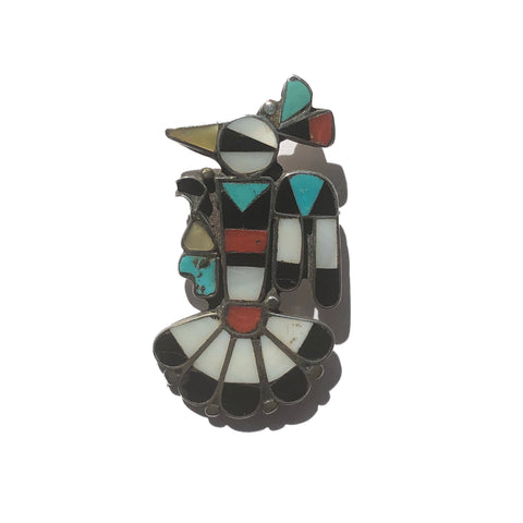Zuni Peyote Bird Brooch