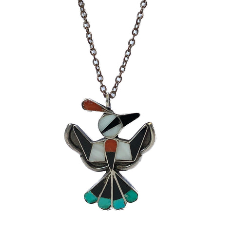 Zuni Peyote Bird Pendant
