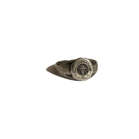 Sterling Silver Enamel Southwest J.R. H.S Ring