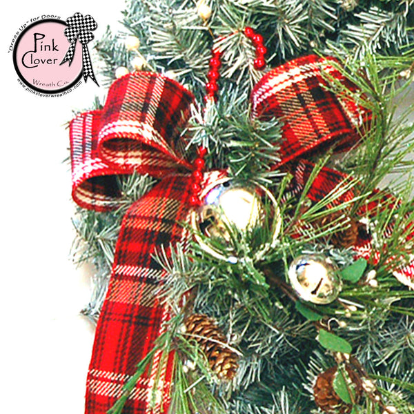 Elegant Tartan Christmas Wreath