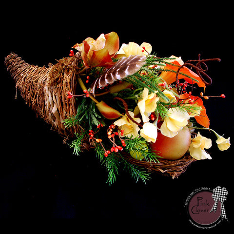 Fall Cornucopia-Thanksgiving Centerpiece-Rustic Cornucopia-accent piece