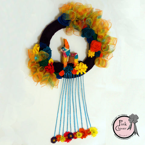 Fiesta Pinata Wreath (Purple)