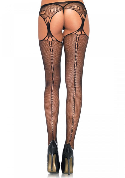 Collants filet avec string