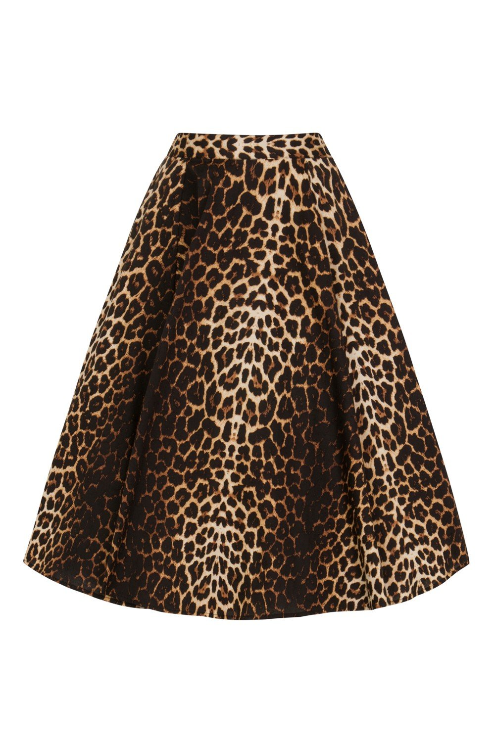 Jupe circulaire leopard