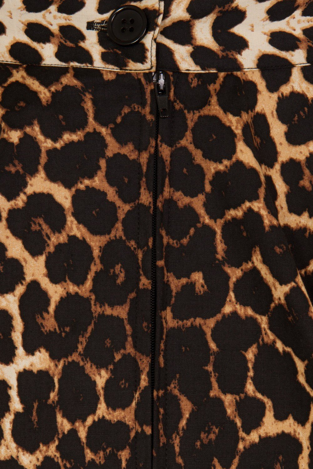 Jupe circulaire leopard - detail