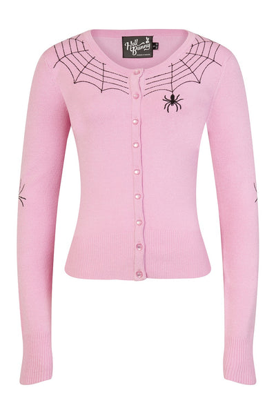 Cardigan spiderweb rose