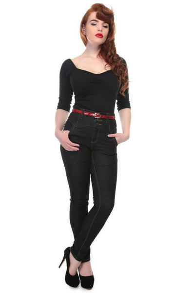 Jeans Rebel Kate noir