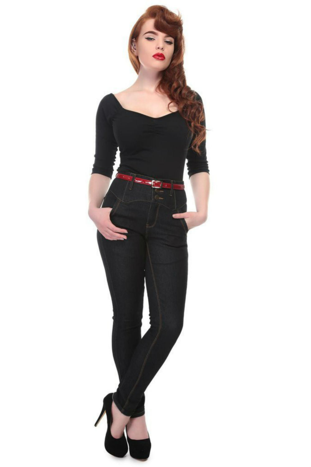 Jeans Rebel Kate noir +
