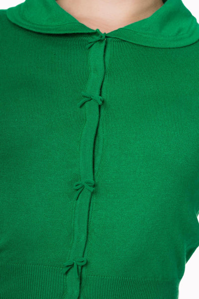 Cardigan April vert pomme - detail