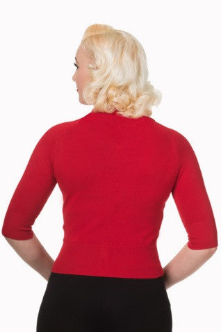 Cardigan April rouge - derriere