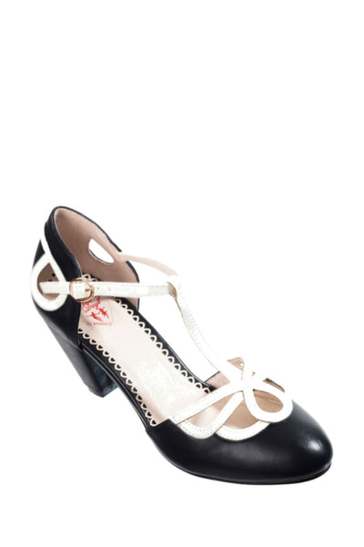 Chaussures Lively aimee noir et blanche