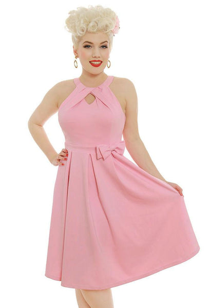 Robe Cherel rose pastel