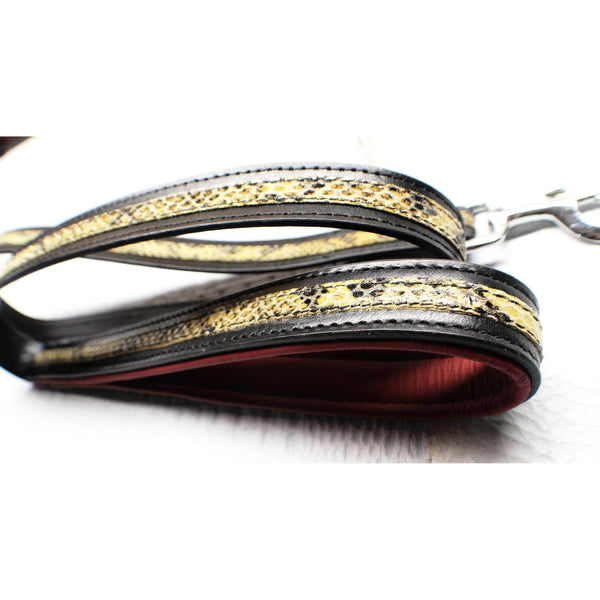 Snake Skin Print Leash | Designer Leash