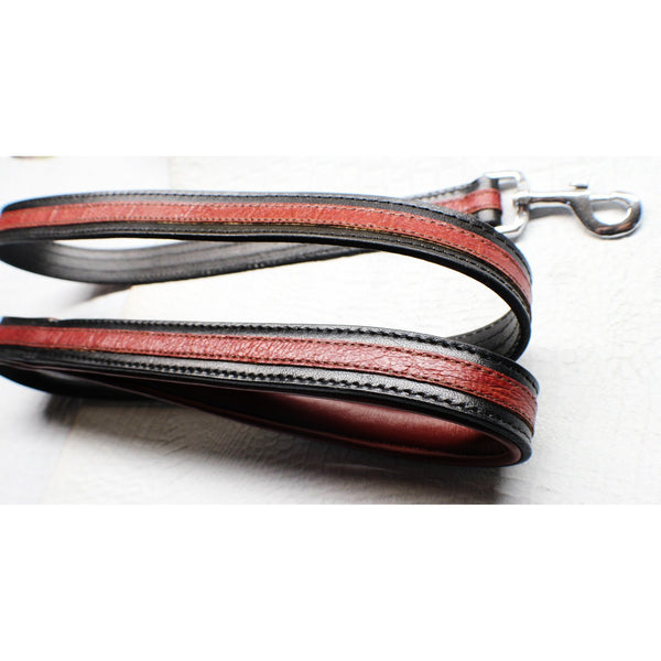 Designer Leash | Black and Red Gator Print