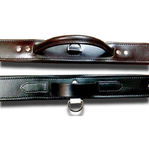 OLI AGITATION COLLAR - LEATHER DOG COLLAR WITH HANDLE - Oli Collars