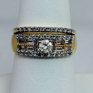 14kt 1.00 ctw Diamond Bridal Set