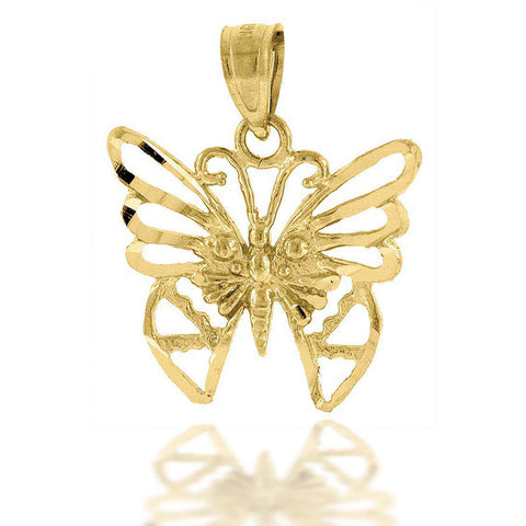 10KT Gold Butterfly Pendant