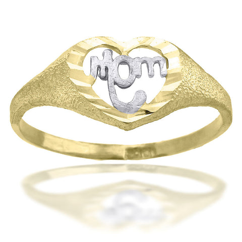 10KT Gold Mom Ring