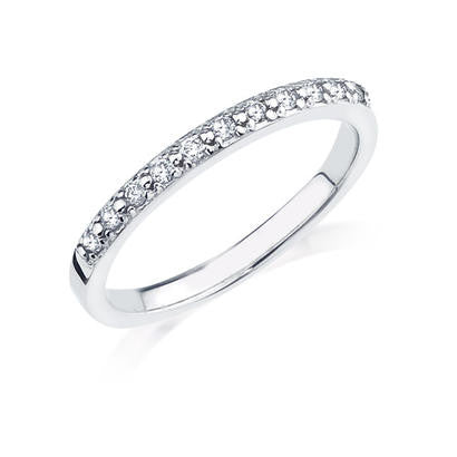 10K White Gold .16CT Ladies Diamond Band