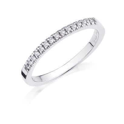 10K White Gold .10CT Ladies  Diamond Band