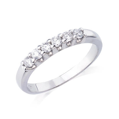 10K White Gold .30CT TWT Ladies Diamond Band