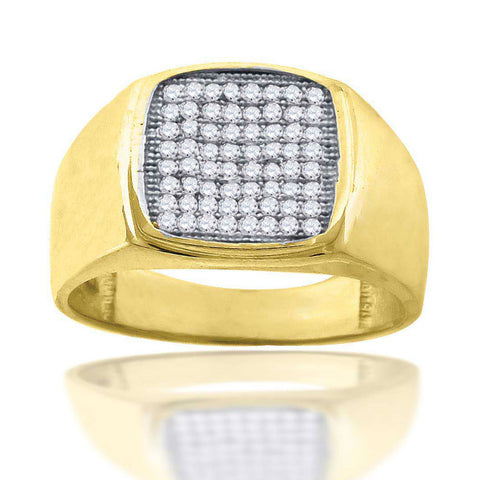 10KT Gold CZ Men's Ring