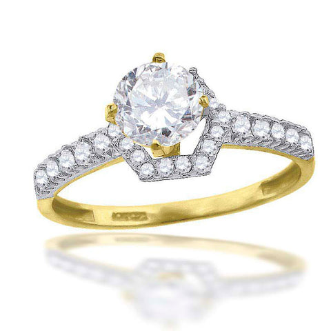 10KT Gold CZ Ladies Bridal Ring